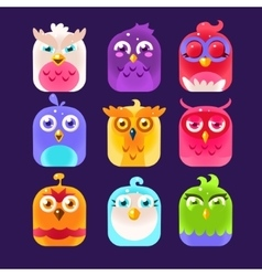 Owl Icon Collection vector image vector image