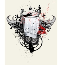 Shield music banner vector