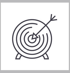goal target linear icon sign symbol on vector image vector image