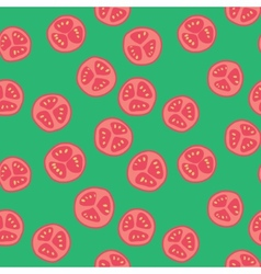 Stylized tomato pattern vector image vector image
