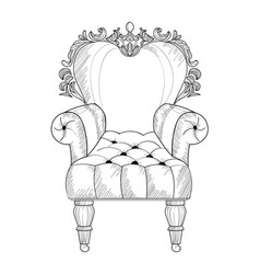 baroque armchair french luxury rich vector image