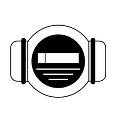 gauge and pipe icon image vector image vector image