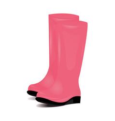 pair of pink rubber rain boots symbol of garden vector image vector image