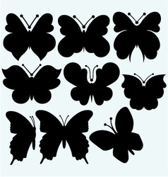 Set icon butterfly vector image vector image