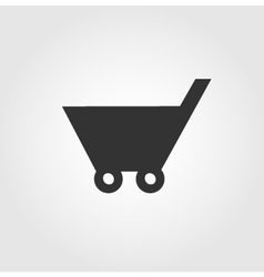 Shopping cart icon flat design vector image vector image