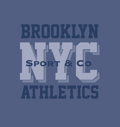 vintage brooklyn typography t-shirt graphics vector image vector image
