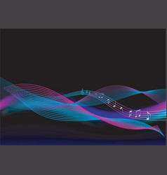 abstract background music vector image