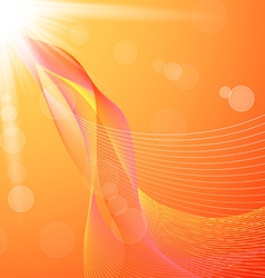Abstract background with orange lines and flares vector image