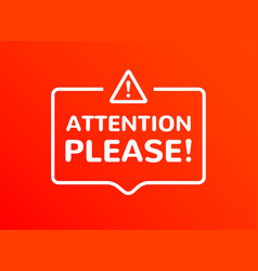 attention information announcement vector image