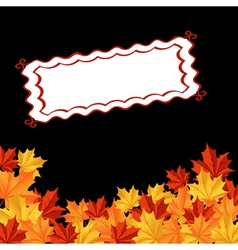 autumn falling leaves background with frame for se vector image