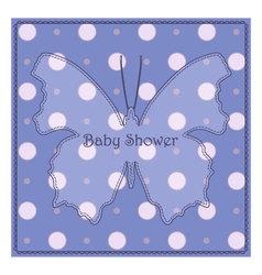 Baby-shower-butterfly-blue-polka-dot-2 vector