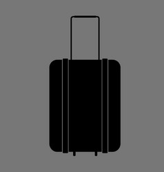 baggage logo template on grey background vector image
