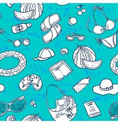 beach seamless vector image vector image