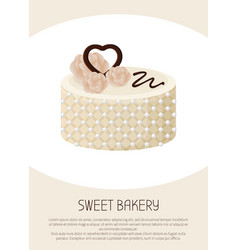beautiful white pie banner vector image