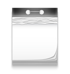 Blank calendar icons vector