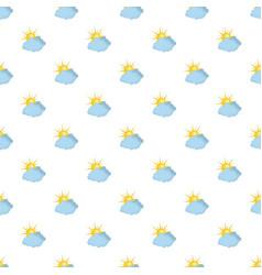Blue cloudy sun pattern seamless vector