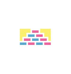 brick wall logo symbol design element vector image