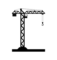 Building Tower crane icon - vector image