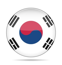 button with flag of South Korea vector image