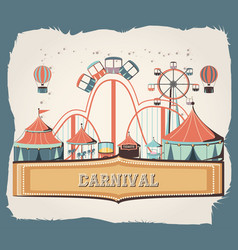 carnival set collection icons vector image