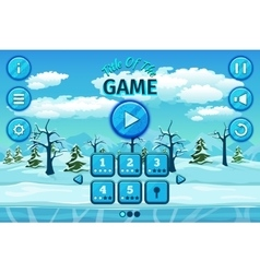 Cartoon winter or arctic landscape with ice snow vector image