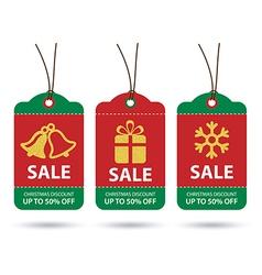 Christmas sale tags flat design vector