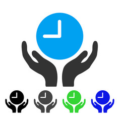 Clock care flat icon vector