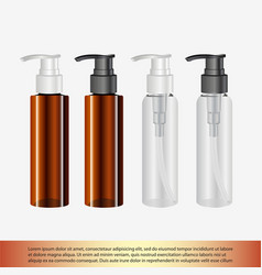 Cosmetic bottle for a cream shampoo oil gel vector