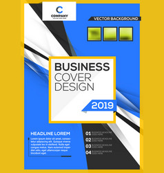 cover design business layout template annual vector image