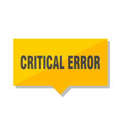 Critical error price tag vector
