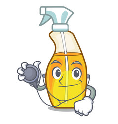 doctor bottle spray in the character form vector image