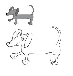 Dog dachshund coloring vector