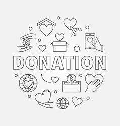 donation round donating money vector image