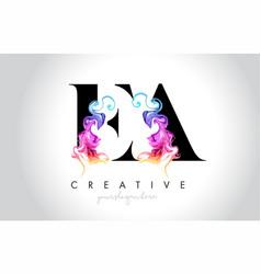 Ea vibrant creative leter logo design with vector