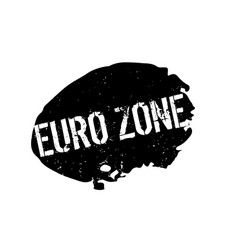 Euro zone rubber stamp vector