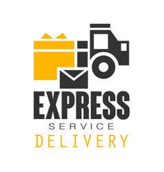 Express delivery service logo design template vector