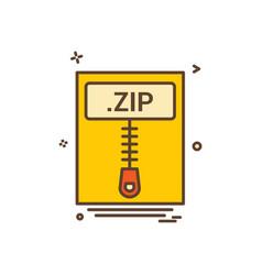 File files zip icon design vector