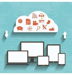 Flat design concept of cloud service vector