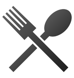 Fork and Spoon Gradient Icon vector image