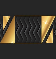 Gold square frame or black luxury rectangular vector