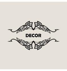Grunge Vintage emblem Black decor abstract logo vector image