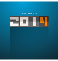 Happy New Year 2014 Title on Blue Background vector