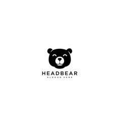 Head bear logo design vector
