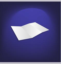 identity design blank white folding paper flayer vector image