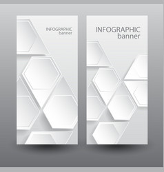 infographic business vertical banners vector image