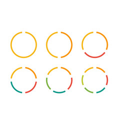 Infographics circles icon set business concept vector