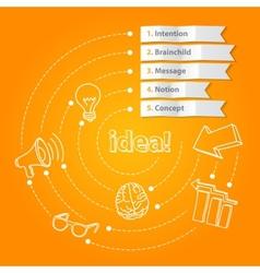 Inspiration idea concept modern design template vector image