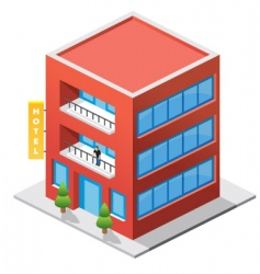 Isometric hotel vector