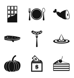 Lavishness icons set simple style vector