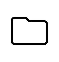line folder icon vector image
